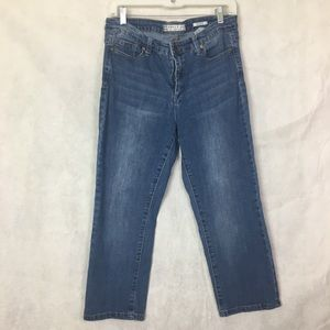 Anne Klein Capri Jeans Denim Cotton Blend 8